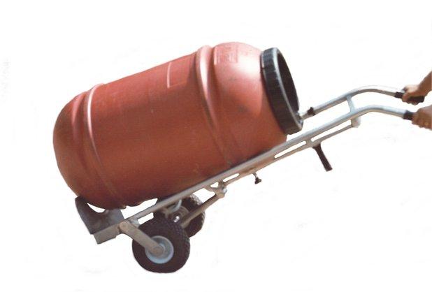 DRUM-HOLDER manual trolley in Stainless Steel